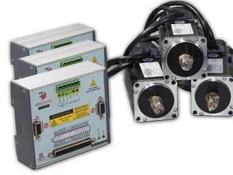 simDrive™ AC Servo System 400W: 3 Axis Drive&Motor Set