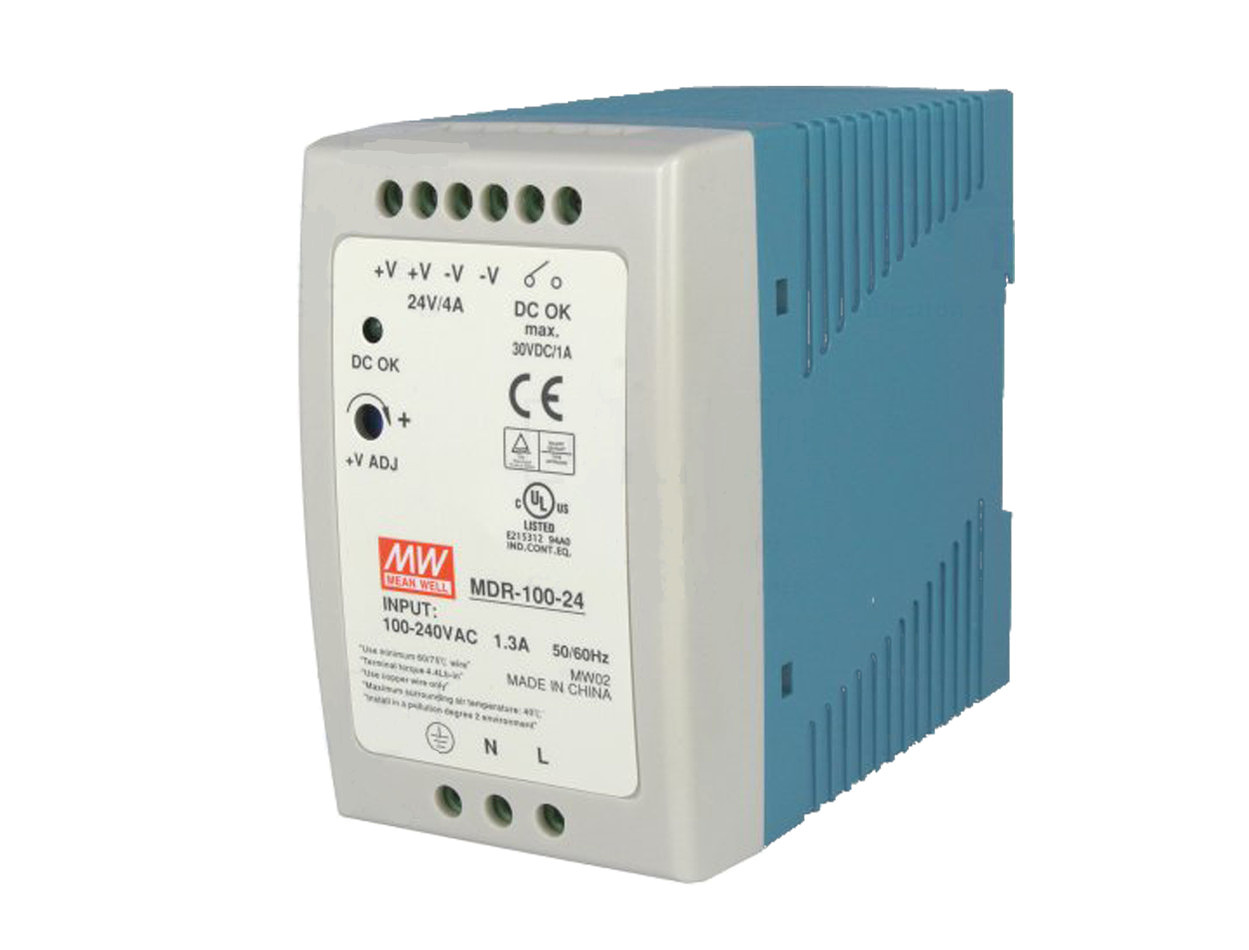 DIN rail Power Supply 24V / 4A by MeanWell