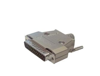 DB25 MALE metal housing plug