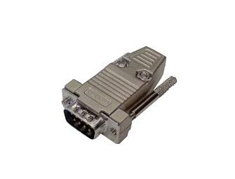DB9 MALE metal housing plug