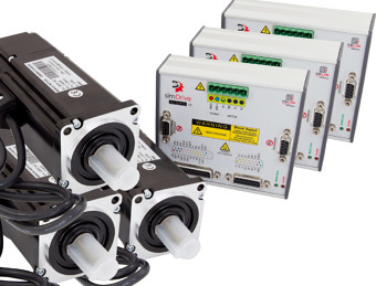 simDrive™ AC Servo System 400W  Drivers and Motors 3 Axis Set