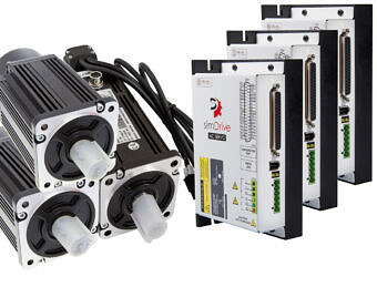 simDrive™ AC Servo System 750W  Drivers and Motors (Brake) 3 Axis Set