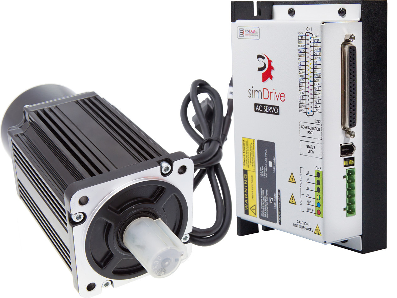 simDrive™ AC Servo System 400W Driver and Motor Set