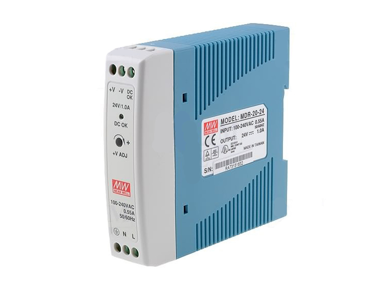 DIN rail Power Supply 24V / 1A by MeanWell