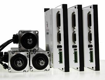 simDrive™ AC Servo System 400W  Drivers and Motors 3 Axis Set