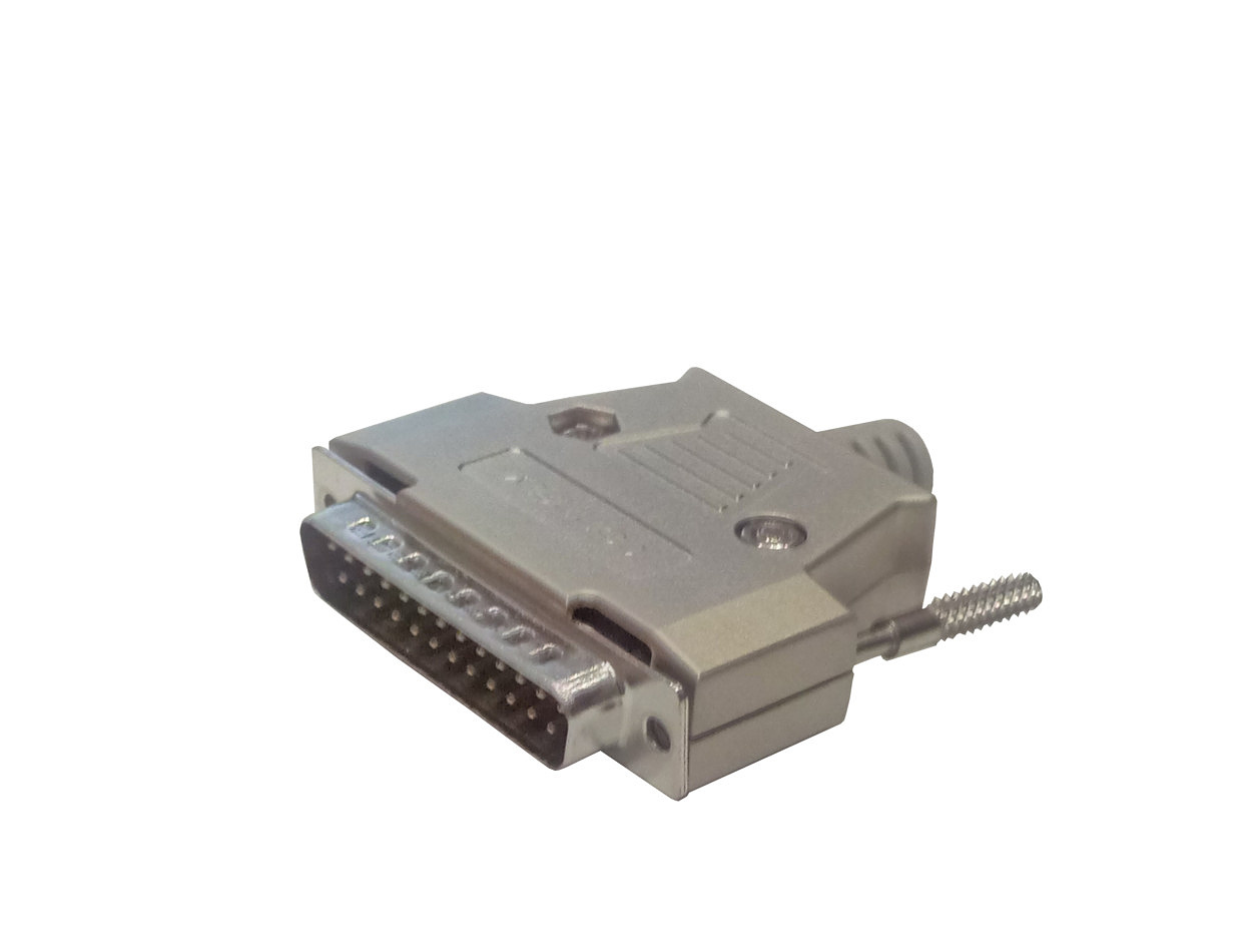 DB25 MALE metal housing plug